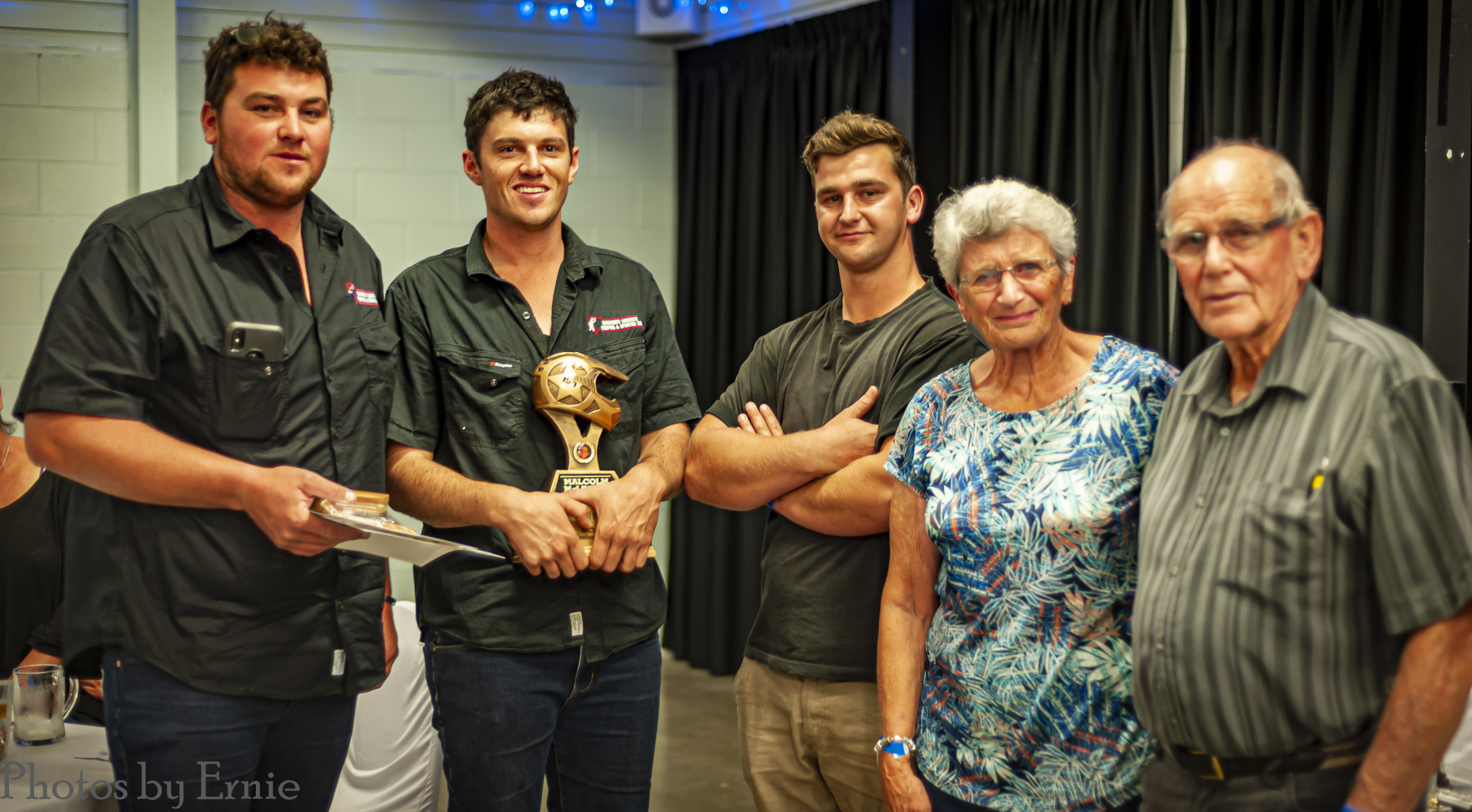 Malcolm McLeavey Memorial Trophy for 1st C Class in Central Zone: Jamie Elms & Mitchell Caldow, awarded by Ayden, Lorraine & Keith McLeavey